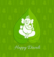 Diwali betel leaf background vector image vector image