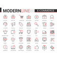 e-commerce online shopping red black icons vector image