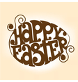 Easter symbol in the shape of an egg vector image