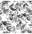Floral Monochrome Seamless Background vector image