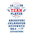 font team player vector image vector image