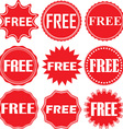 Free signs set free sticker set vector image vector image