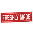 freshly made grunge rubber stamp vector image vector image