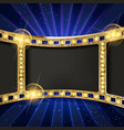 gold film on curtain backdrop vector image vector image
