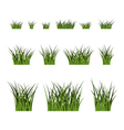 Green grass bushes set plant isolated vector image vector image