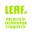 green letters set latin alphabet natural vector image