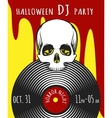 Halloween DJ Party Poster vector image