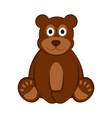 happy bear icon vector image