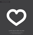 heart premium icon white on dark background vector image vector image