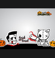 helloween evil cat voodoo doll pop art comic vector image vector image