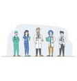 hospital healthcare staff doctors nurses vector image vector image