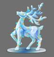 ice figurine form a deer decorated with vector image vector image