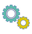 industry gear process technology vector image vector image