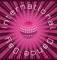 international dance day crimson mirror ball vector image vector image