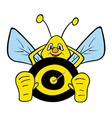 lazy bumble bee vector image