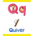 learning alphabet q vector image