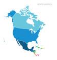 map north america vector image vector image