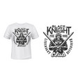 medieval knight in armor t-shirt print vector image