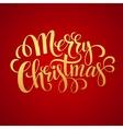 Merry Christmas golden lettering design vector image