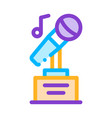 microphone equipment for singing songs icon vector image
