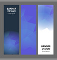 modern abstract banner polygonal background vector image vector image