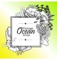 Ocean line art design vector image vector image