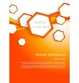 Orange hexagons vector image vector image