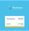 pen nib logo design with business card template vector image