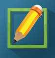 Pencil Frame Icon Symbol Design vector image vector image