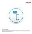 phone with message icon hexa white background vector image vector image