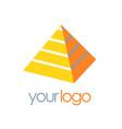 pyramid 3d logo vector image vector image
