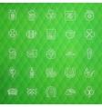Saint Patrick Day Thin Line Icons Set vector image vector image