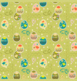 seamless background with silhouettes of easter vector image vector image