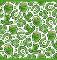 seamless pattern on st patricks day theme vector image