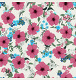 seamless pattern with different wildflowers vector image vector image