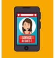 service request call center girl vector image