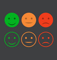 smiley icon set emoticons positive neutral vector image vector image