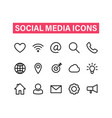 Social media linear icons set icons for business