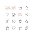 Social Network Signs - Thin Line Icons Set vector image