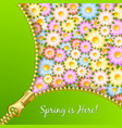 Spring zipper with flowers vector image vector image