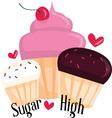 Sugar High vector image vector image