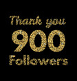 thank you 1000 followerstemplate for social media vector image vector image