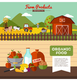 Two Farm Banners In Flat Style vector image vector image