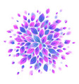 violet leaves round background vector image