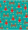 wooden monkey pattern vector image