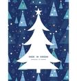 abstract holiday christmas trees Christmas tree vector image