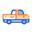 agricultural pickup cargo thin line icon vector image