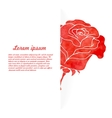 background flowers rose vector image vector image
