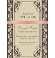 Baroque invitation brown vector image vector image