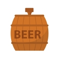 Beer Barrel icon flat style Isolated on white vector image vector image